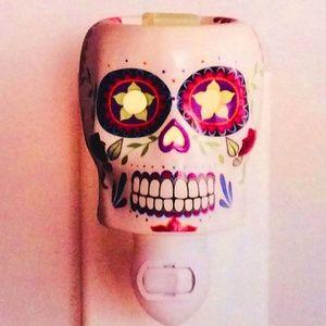 Wax Warmer Night Light Sugar Skull Wall Plug In